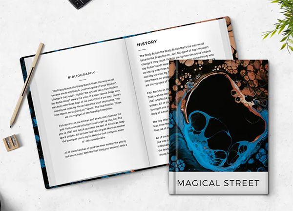 Realistic Book Cover Mockup Templates - Magic Street Book Cover Mockup