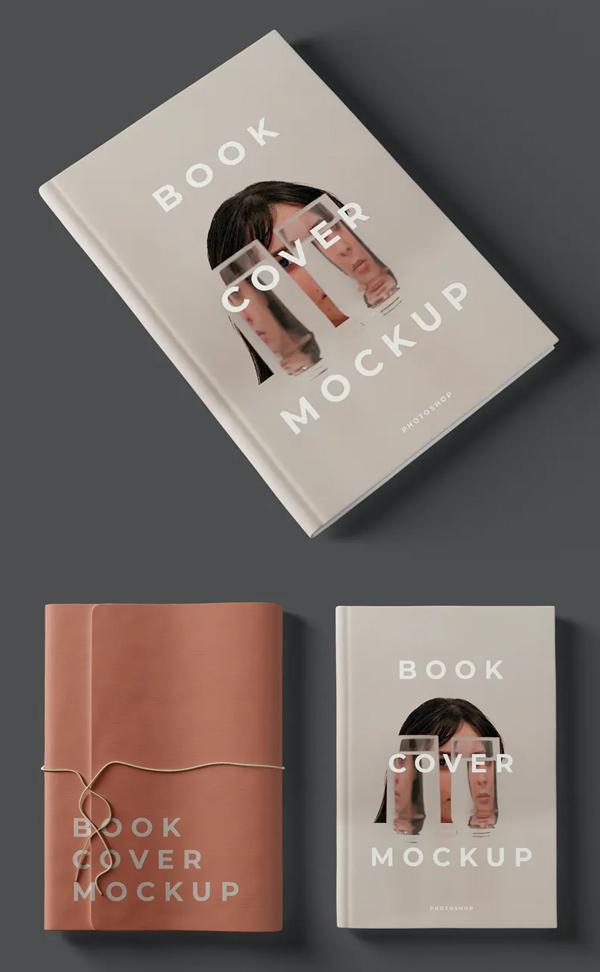 Realistic Book Cover Mockup Templates - Fashion Book Cover Mockup