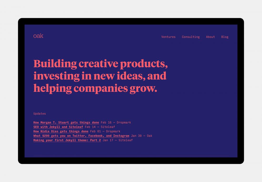 Fonts for designers, Designed by [Oak] (https://oak.is/)