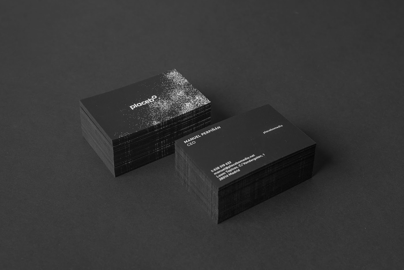 Placebo brand: business cards